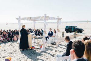 Strandpaviljoen Brouw Bruiloft op het strand